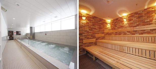 ジェクサー東神奈川のお風呂とサウナ