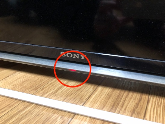 SONYのテレビ KDL-40W600Bが赤点滅6回