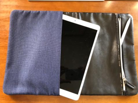 iPad Proとクラッチバッグ