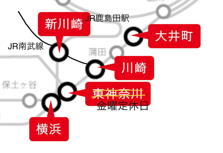 ジェクサー路線図